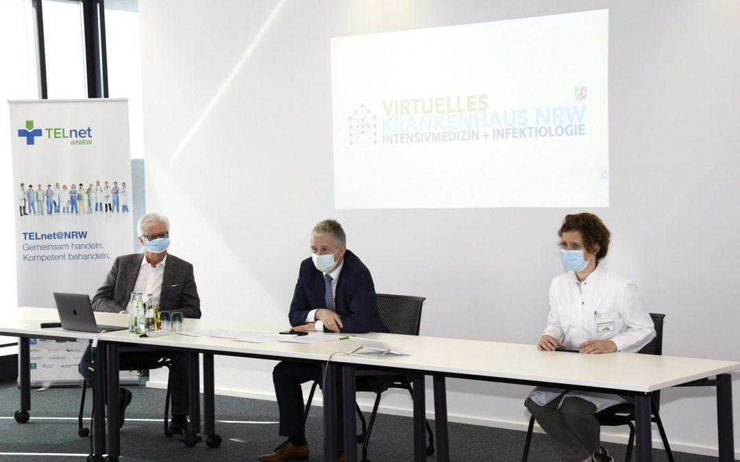 Pressekonferenz zum Virtuellen Krankenhaus am Universitätsklinikum Aachen
